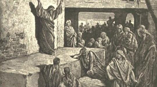 Micah preaching gy Gustave Doré