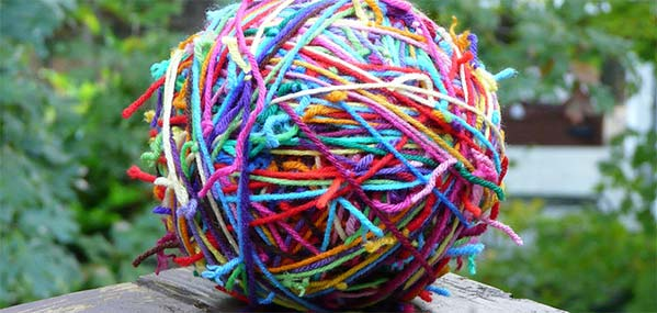 ball of tangled wool