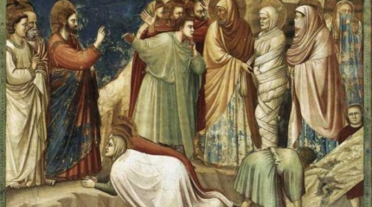 Raising of Lazarus by Giotto
