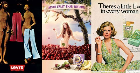 adam and eve in adverts