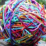 ball of tangled wool
